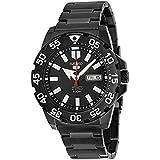 Seiko  SRP489 - Reloj de automático para hombre, con correa de acero inoxidable, color negro