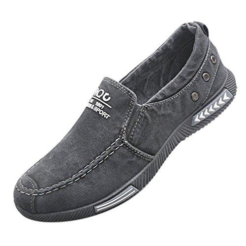 Hibote Herren Damen Freizeitschuhe Canvas Sneaker Atmungsaktiv Loafer Unisex Arbeitsschuhe Flache Schuhe Classic Slip-on Low-Top 38-45