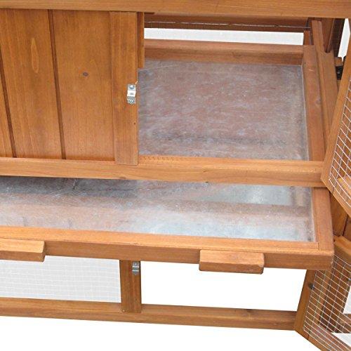 Hasenstall Kaninchenstall Kaninchen-Käfig Hasen-Käfig Kleintier-Stall Freilauf Kleintierkäfig - 3
