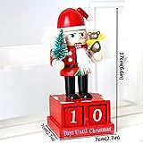 ZHANGFAN Decorazione Natalizia in Legno Schiaccianoci Fantoccio Calendario dell'Avvento Regalo di Natale Pupazzo di Neve in Legno Calendario alla rovescia Calendario di Capodanno