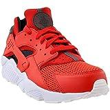 Nike Herren Air Huarache Leather Textile Habanero Red Black Trainer 46 EU