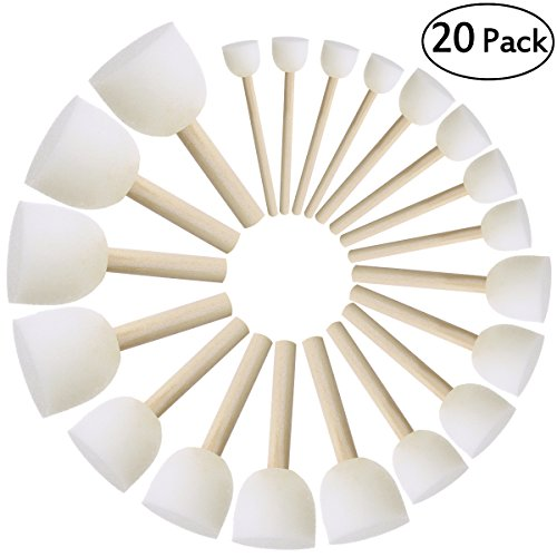 mme Pinsel Set Kinder Pinsel DIY Malerei Werkzeuge Packung mit 20 ()