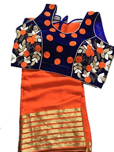 Balaji Fashion Brocade & Georgette Saree (D.No Dm33_Multi-Coloured)