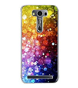 Fiobs Designer Back Case Cover for Asus Zenfone 2 Laser ZE500KL (5 Inches) (Colourful Pattern & Design)