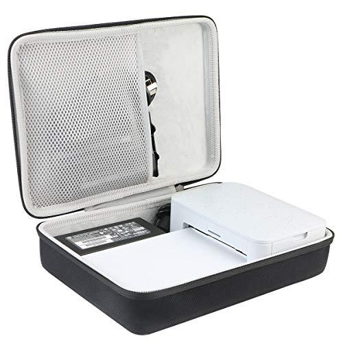 Khanka hart Tasche Schutzhülle Für HP Sprocket Studio Fotodrucker Bluetooth und Fotopapier 10 x 15 cm. (Für HP Sprocket Studio, Schwarz)
