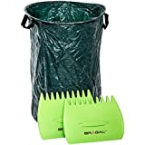Leaf Grabber and Garden Waste Collection Set by BRAGAL. Hand Rake Tools for Garden Leaves, Grass, Twigs, Sticks | Heavy Duty, Durable Scrapers