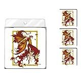 Baumfreie Grüße nc37547Amy braun Fantasy 4er Pack Künstlerische Untersetzer Set, Fire Dance Fairy