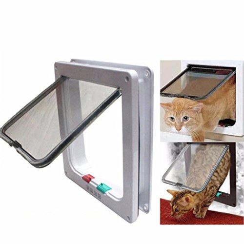 Igemy 4 Way Medium Petit Chiot Animal domestique magnétique verrouillable  Safe Flap Porte portail Blanc 9335990d8b86