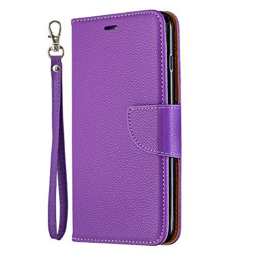 NEXCURIO iPhone 6S Plus/6 Plus Hülle Leder, Handyhülle Tasche Leder Flip Case Brieftasche Etui mit Kartenfach Stoßfest Schutzhülle für Apple iPhone 6SPlus/6Plus - NEBFE130013 Violett