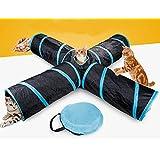 Beststar 81266 4-Wege-Katzentunnel, groß, für drinnen und draußen, zusammenklappbar, mit Aufbewahrungstasche für Katzen, Hunde, Welpen, Kätzchen, Kaninchen