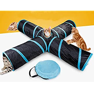 beststar 4 way cat tunnel, large indoor outdoor collapsible pet toy crinkle tunnel tube with storage bag for cat, dog, puppy, kitty, kitten, rabbit #81266 Beststar 4 Way Cat Tunnel, Large indoor outdoor Collapsible Pet Toy Crinkle Tunnel Tube with Storage Bag for Cat, Dog, Puppy, Kitty, Kitten, Rabbit #81266 513FJo1JQzL