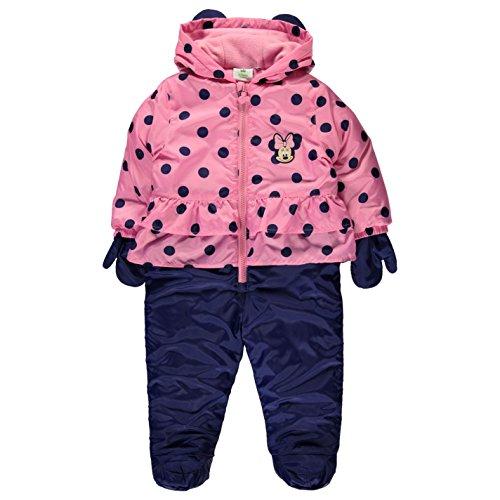 Disney Kinder Schneeanzug Schneeoverall Warm Winter Overall Winteranzug Pink 6-9 Mnth