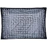 Rollei Schirm-Softbox 70 x 100 cm - Faltbare Schirm-Softbox mit Bowens-Anschluss, für Produktfotografie und Hintergrundbeleuchtung, inkl. Wabe (GRID) - Schwarz