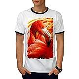 Pélican Oiseau Sauvage Animal Royal Visage Men L T-shirt à sonnerie   Wellcoda