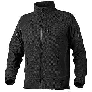 Helikon Men's Alpha Tactical Jacket Grid Fleece Black size M