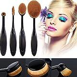 Internet 4pcs / set Toothbrush Fondation Shape Sourcils Maquillage Kits Pinceau Poudre Pinceau