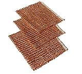 Lot de 10 Chiffons en cuivre - 14,5 x 15 cm