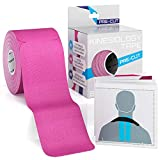 Boundletics Kinesiologie Tape vorgeschnitten pink - Physiotape 5cm + Anleitung