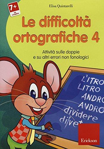 Le difficolt ortografiche. CD-ROM: 4