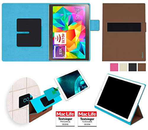 amsung Galaxy Tab S 10.5 Tasche Cover Case Bumper   in Braun   Testsieger ()