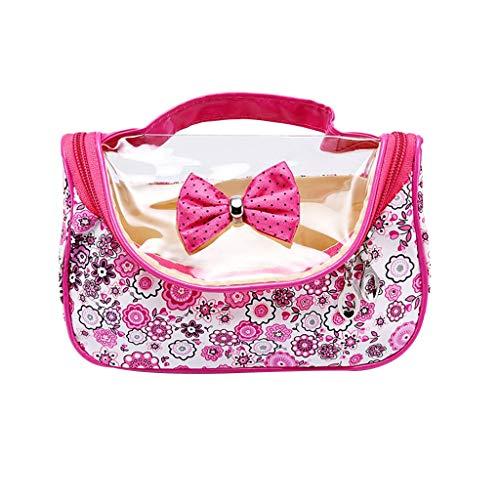 jgashf Kosmetikbeutel Make-Up Tasche Multifunktionale Wasserdicht Tragbare Kosmetiktasche Kleine Aufbewahrungstasche FüR Damen (Pink,Freie Größe - Süße Zunge Ringe