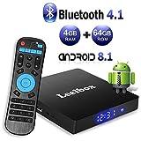 Android TV Box 8.1, Leelbox 2019 Newest Q4 MAX 4GB RAM+64GB ROM Smart