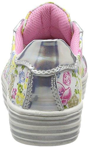 ASSO 39903, Baskets Basses Fille Argent (Silver)