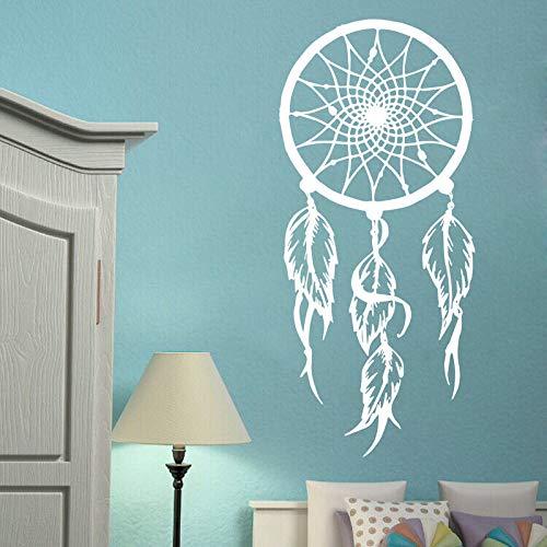 Ajcwhml Vinilo Atrapasueños Tatuajes de Pared Símbolo Amuleto Etiqueta de la Pared Decoración de la Sala de Estar del hogar Extraíble Dreamcather Mural de Pared AY013-114x56 cm