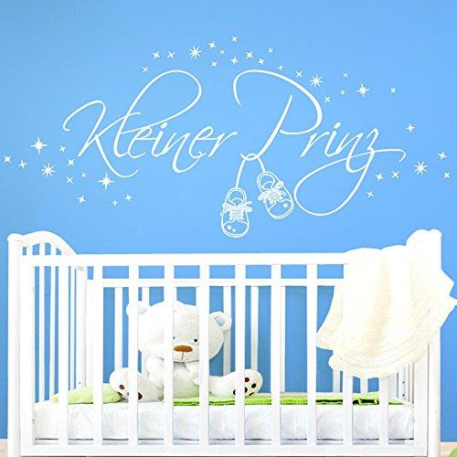 attoo Kleiner Prinz I haselnussbraun 155 x 58 cm I Jungen Kinder Kinderzimmer Aufkleber Schuhe Sterne Wandaufkleber Wandsticker (Hazel Kind Schuhe)