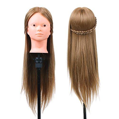 Anself Salon Frisur Training Kopf Langes Haar Praxis Modell Weiblich Dummy Kopf mit Klemme