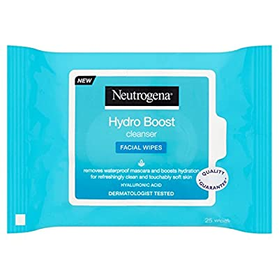 Neutrogena Hydro Boost Cleanser Facial Wipes - Pack of 25 from Johnson & Johnson