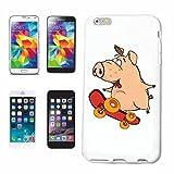 Phone Case Samsung Galaxy S5 Mini PIG IN SKATEBOARDS Domestic PIG warthog WILDBOAR