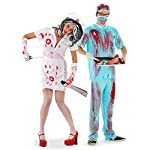 Folat 21980 Horror-Chirurg 4-teilig Costume, Blau, M/L