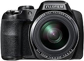 Fujifilm FinePix S9800 Fotocamera Digitale, 16 Megapixel, Sensore CMOS-BSI, Zoom 50X 24-1200mm, Stabilizzatore Ottico OIS, Nero