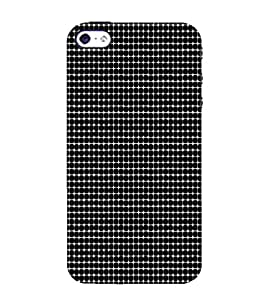 Ifasho Animated Pattern Equal Size Circle Black And White Back Case Cover For Apple Iphone 4