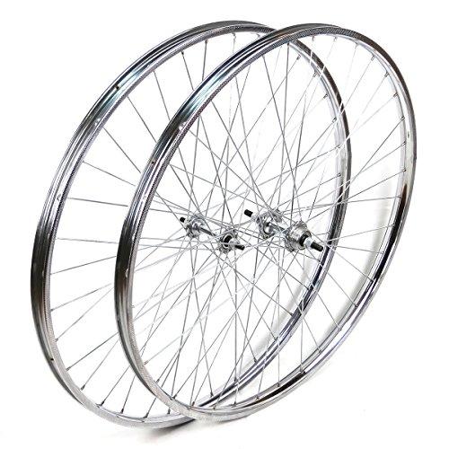 OldNewBikes Ruedas Delantera y Trasera Westrick 28 x 1 œ de Acero Cromado para Bicicleta clásica