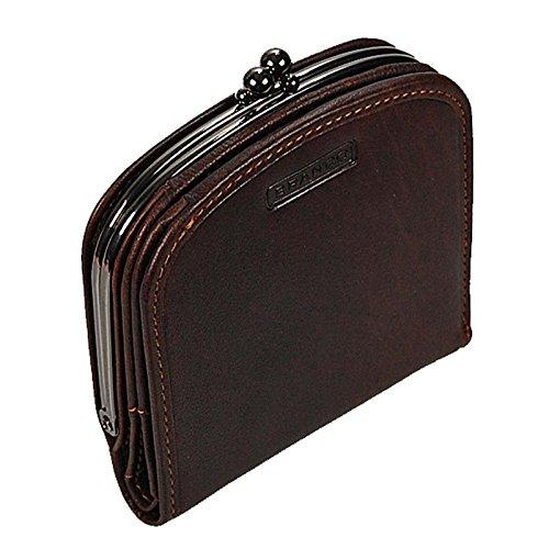 29a9cb040fb91e Branco Damenbörse Portemonnaie Geldbeutel Bügelbörse Damen Geldbörse Leder  GoBago (Braun)