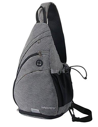 Mochila marca WATERFLY con eslinga, para usar contra el pecho, como cartera al hombro, cruzada, mochila...