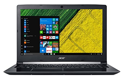 Acer Aspire 5 A515-51G - Ordenador Portátil 15.6' HD (Intel Core i7-7500U, 8 GB de RAM, HDD de 1 TB, Nvidia GeForce MX130 de 2 GB, Windows 10 Home) Negro - Teclado QWERTY Español