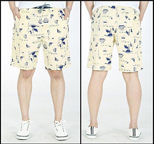 Heheja Pantaloncini Mare Uomo Bermuda Cargo Shorts Pantaloni Con Coulisse Cachi
