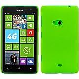 CUSTODIA RIGIDA con rivestimento in gomma, antiscivolo e robusta per Nokia Lumia 625 in Verde, firmata kwmobile