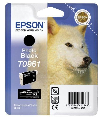 Preisvergleich Produktbild Epson T0961 Tintenpatrone Husky, Singlepack Foto schwarz