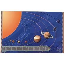 Haba 1959 Terra - Protector de escritorio, diseño de sistema solar de color azul