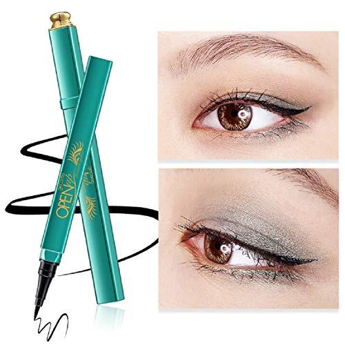 Liquid Waterproof Eye Makeup Remover (Ardorlove Eyeliner, Liquid Eyeliner Pen Waterproof Smudgeproof Long Lasting Beauty Makeup Cosmetic Peacock Eye Liner Pencil Black)