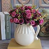 MingXiao europäische künstliche Rosenblatt Blumen Bouquet Home Decor Aufkleber Lila