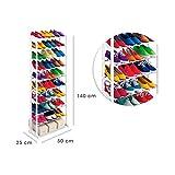 Shop Story–Waschtisch Range Schuhe bis 30Paar 25x 50x 140cm Aufbewahrung Schuh Weiß 30Shoes Rack
