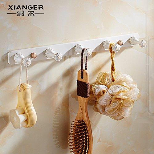 LHbox Tap Die Badezimmer sind mit weißen Gold Antik Falten Handtuchhalter Handtuchhalter WC Integriertem Shelf Kit, Solid Ball fünf Haken - Solid Shelf Kit