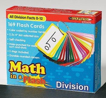 Math In A Flash Division Flash Card by Edupress (- Einem Flash In Math)