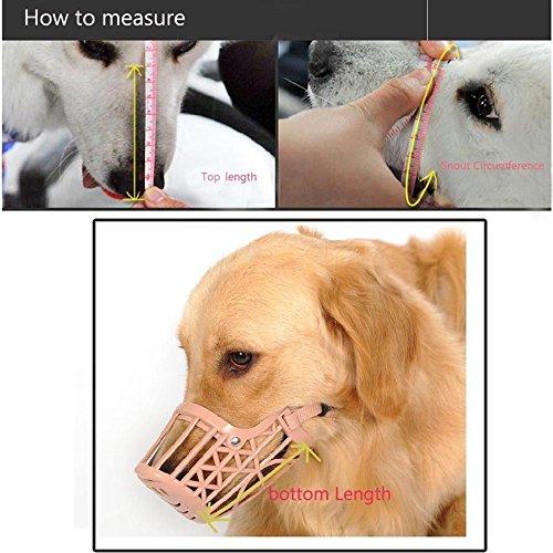 VANKER Nueva perro de mascota de plástico ajustable Bozal de protección de la máscara de la boca jaula del acoplamiento # 5