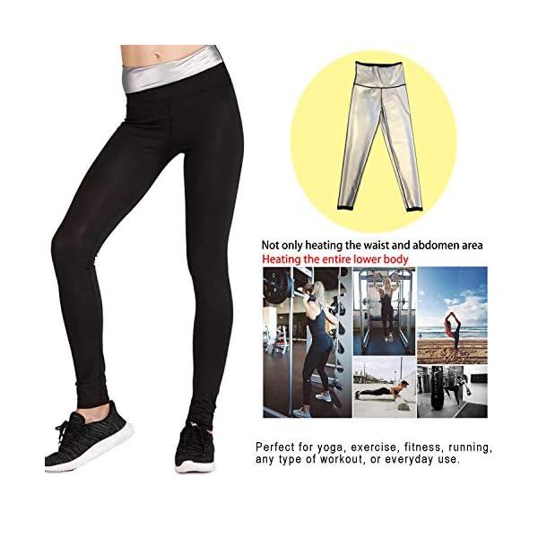 NHEIMA Pantaloni Sauna Dimagranti, Leggings Anticellulite Donna Fitness, Leggings Termici Vita Alta in NANOTECHNOLOGIE… 4 spesavip
